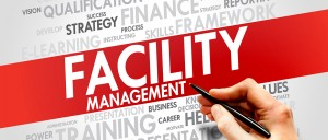 Facility Management word cloud, business concept